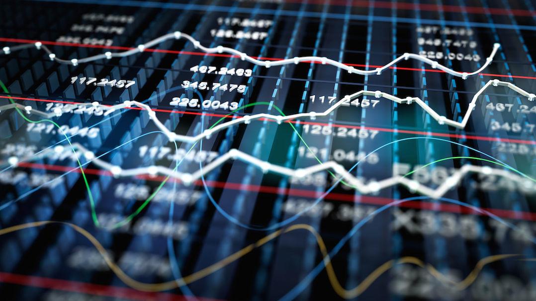 40012544 - stock exchange graph background